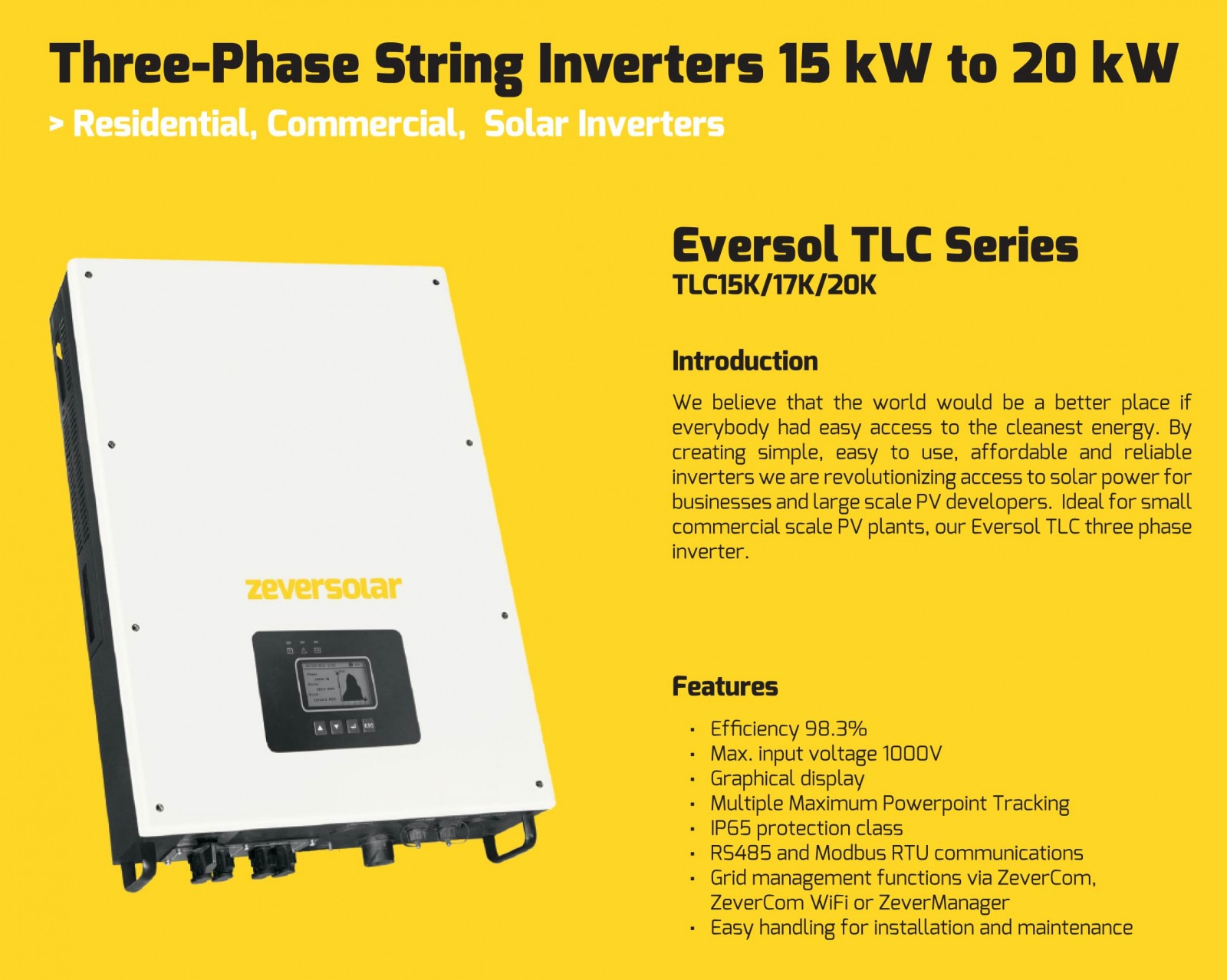 Zeversolar Solar Inverters